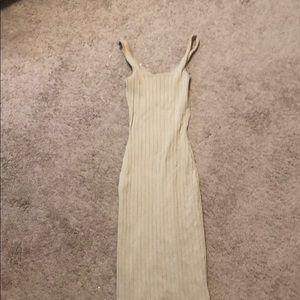 Fashion Nova Knit dress. Size small nude color